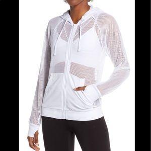 Blanc Noir Surfside Mesh Hooded Jacket White Small